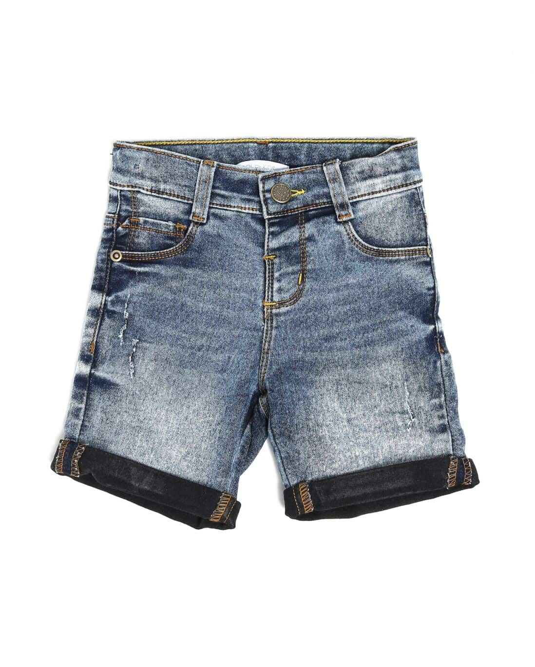 Bermuda Jeans Acid Wash - Denim Claro