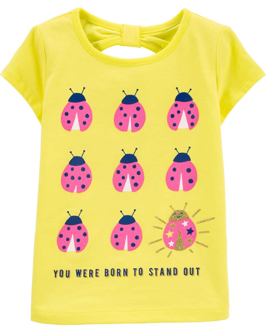 Camiseta Born To Stand Out Carter's - Amarelo