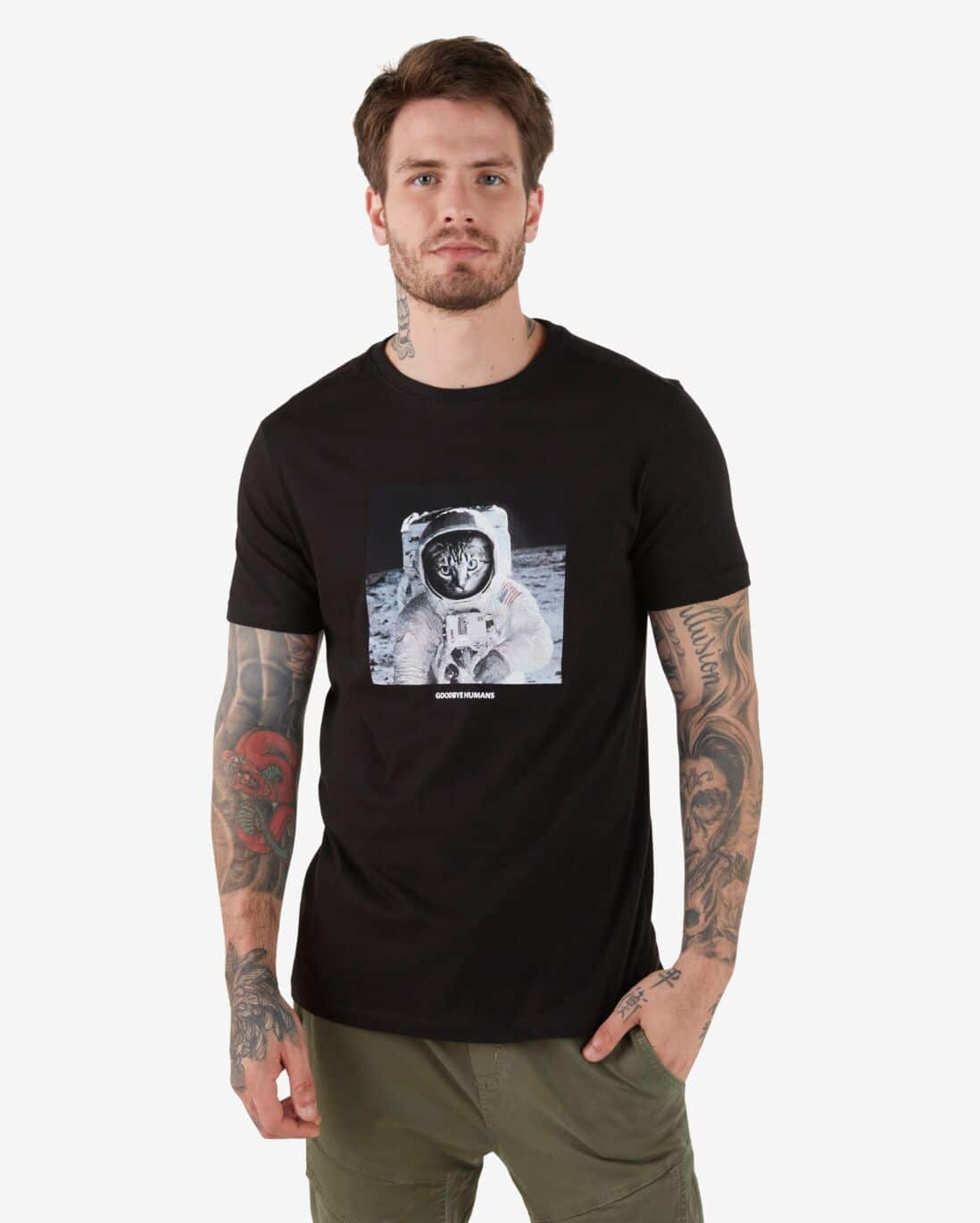 Camiseta Goodbye Humans - Preto