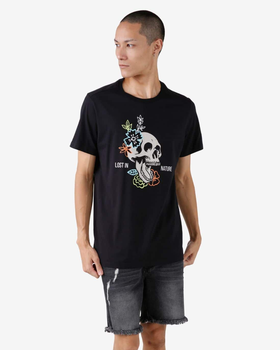 Camiseta Lost in Nature - Preto