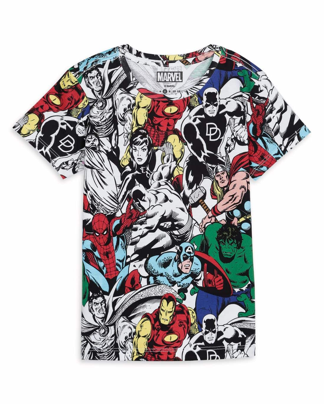 Camiseta Malha Marvel - Multicor