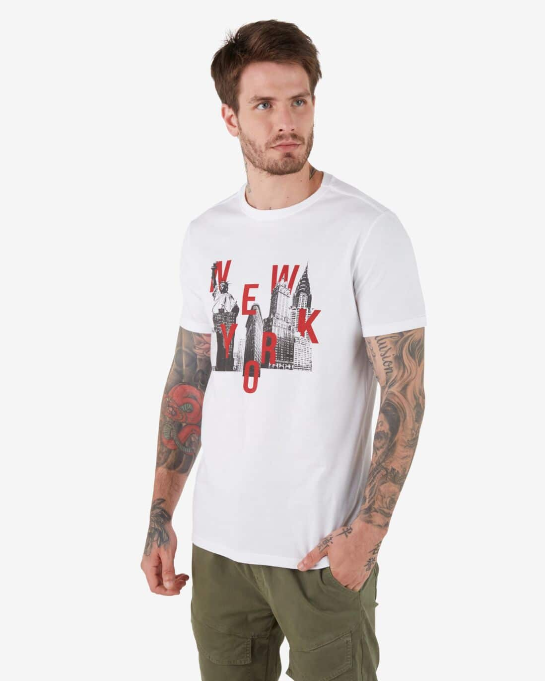 Camiseta New York City - Branco