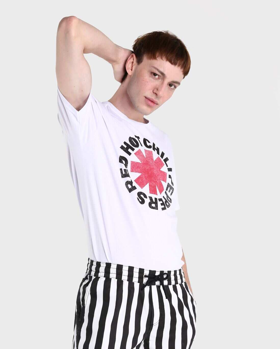 Camiseta Red Hot Chili Peppers - Branco