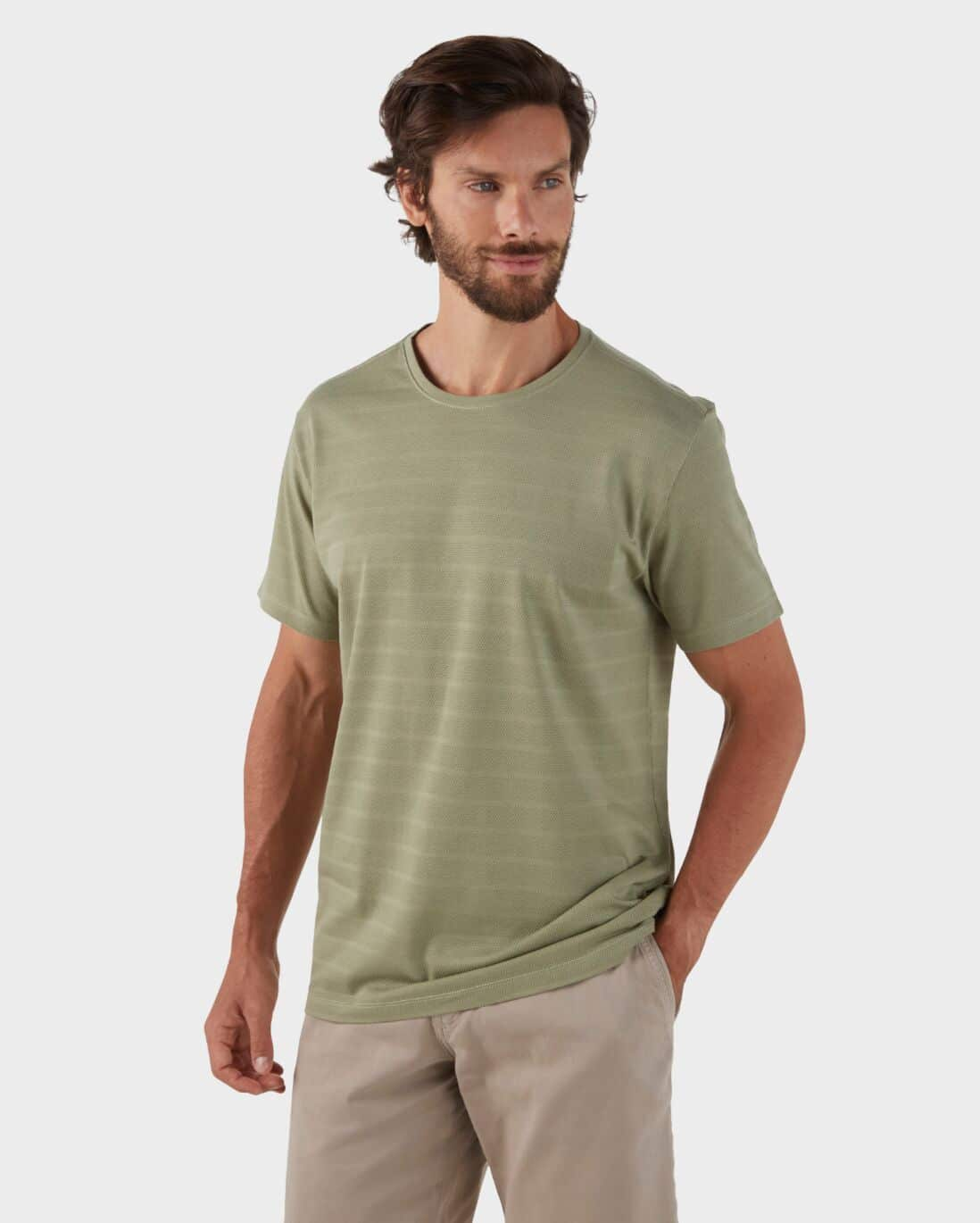 Camiseta Regular Fit Básica - Verde Musgo