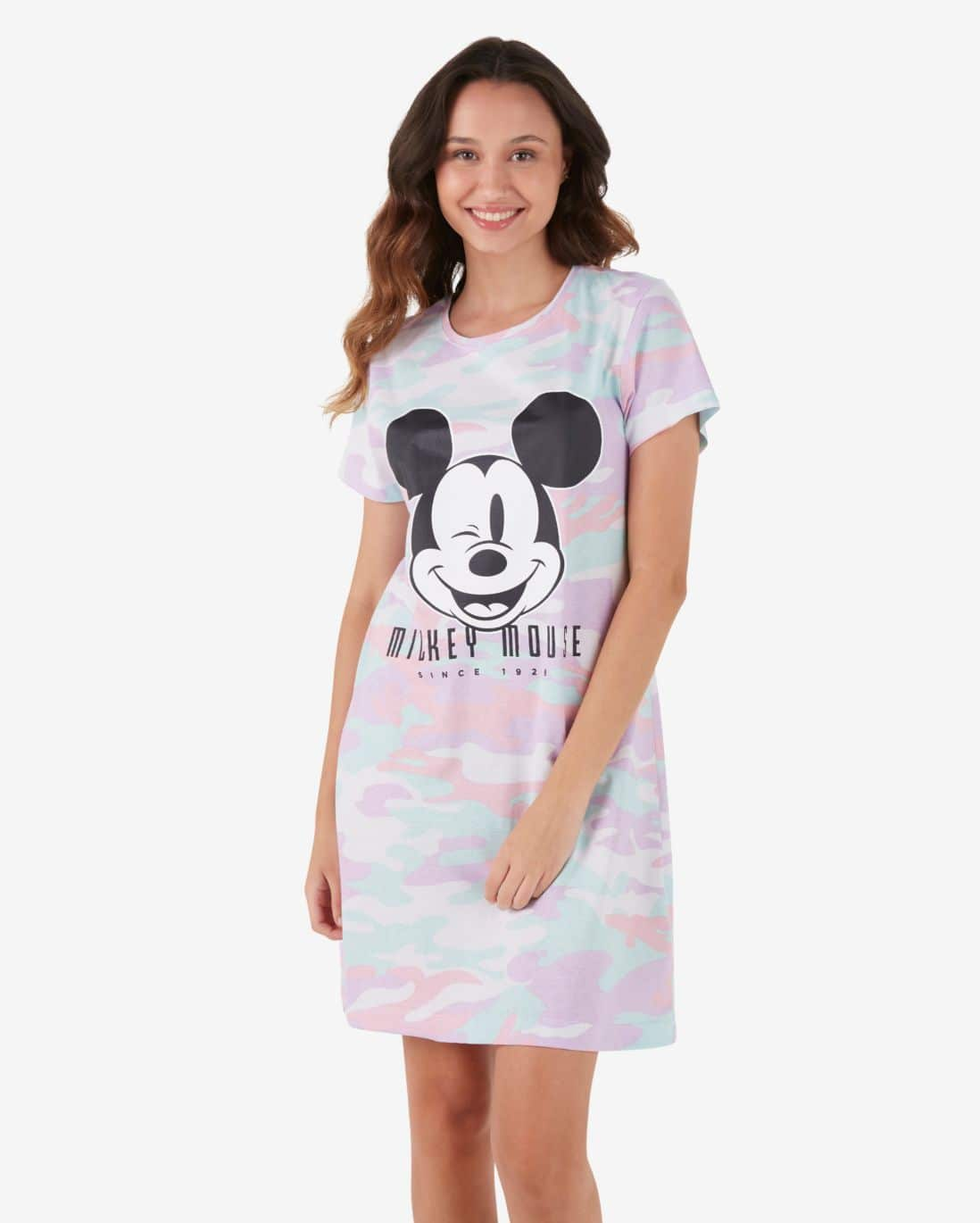 Camisola Camuflada Mickey Mouse - Multicor