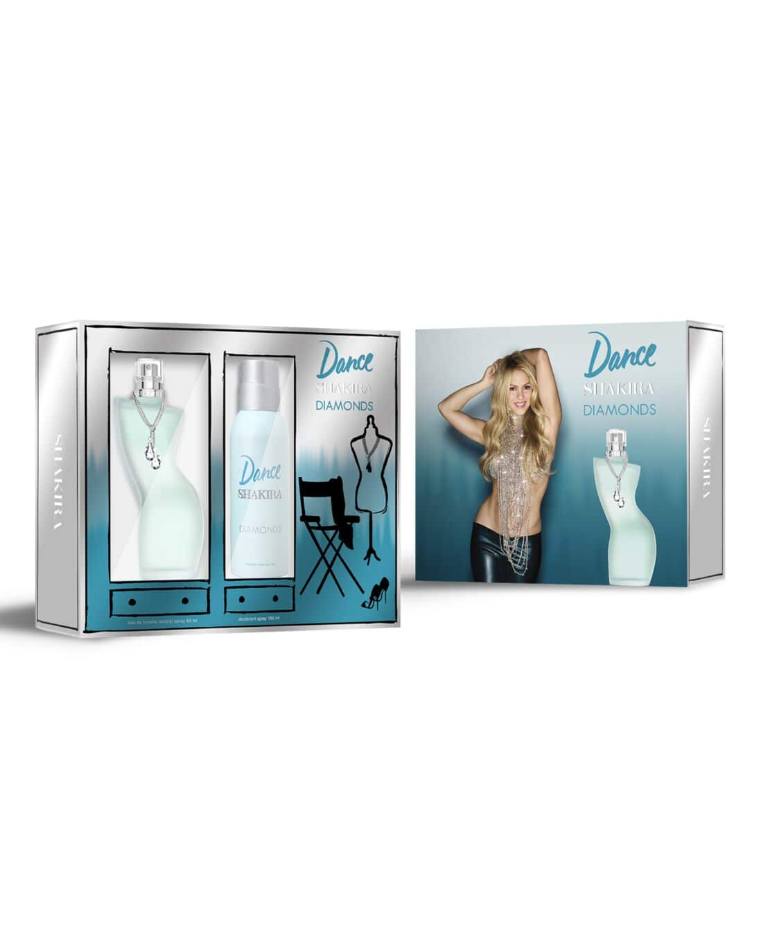 Kit Perfume Dance Diamonds Shakira Feminino 80ml + Desodorante Shakira