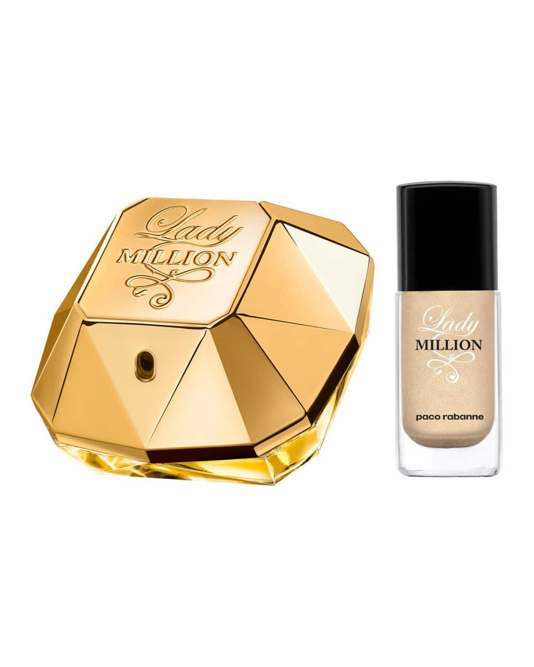 Kit Perfume Lady Million Paco Rabanne Feminino Eau de Parfum 50ml + Esmalte