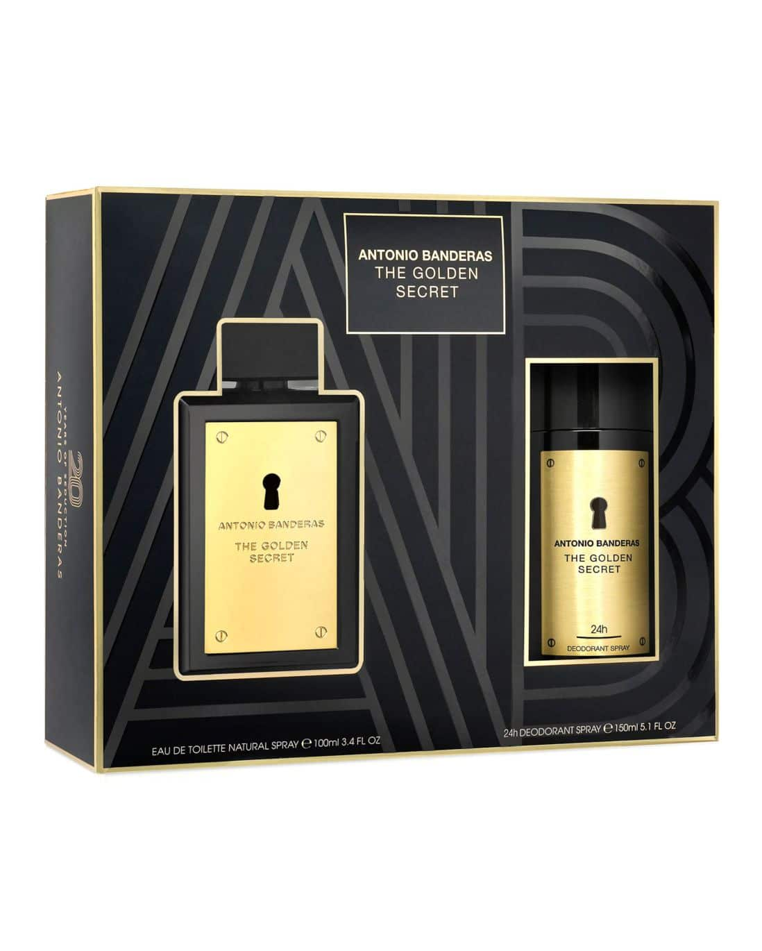 Kit Perfume The Golden Secret Antonio Banderas Masculino 100ml + Desodorante Antonio Banderas