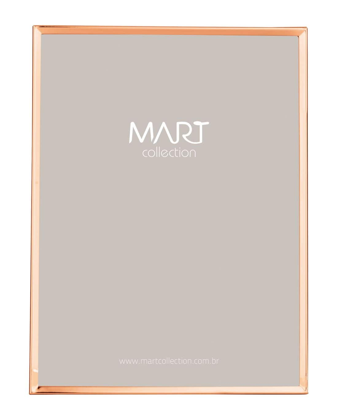Porta Retrato Metal Mart Rose Gold 25,5x20,5cm