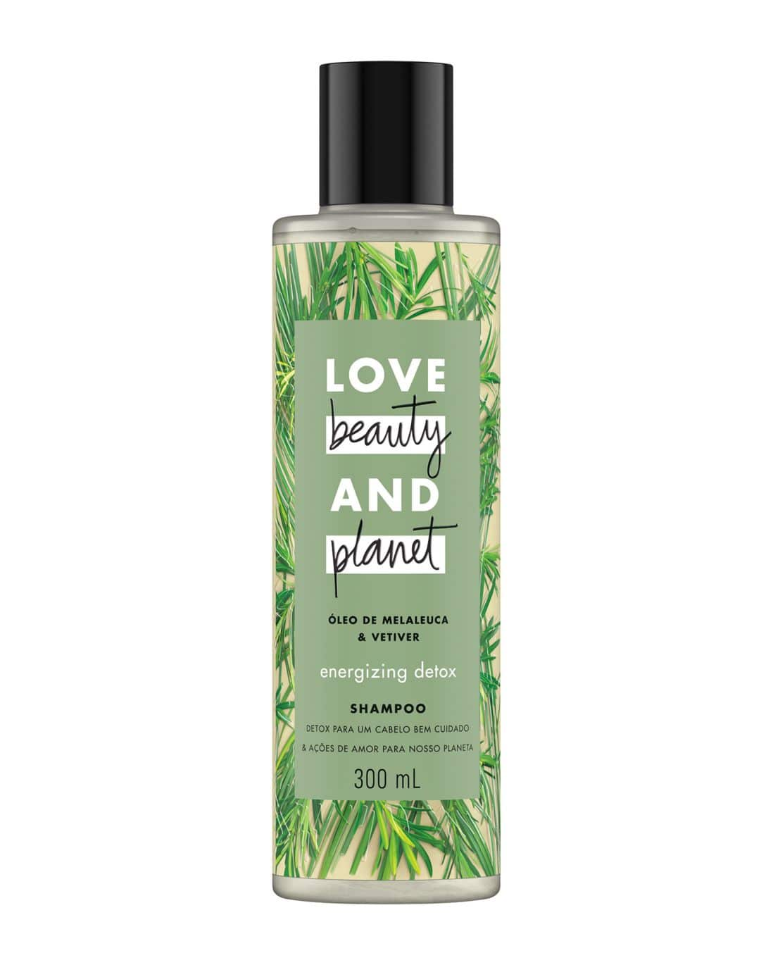 Shampoo Energizing Detox Óleo de Melaleuca & Vetiver Love, Beauty And Planet 300ml