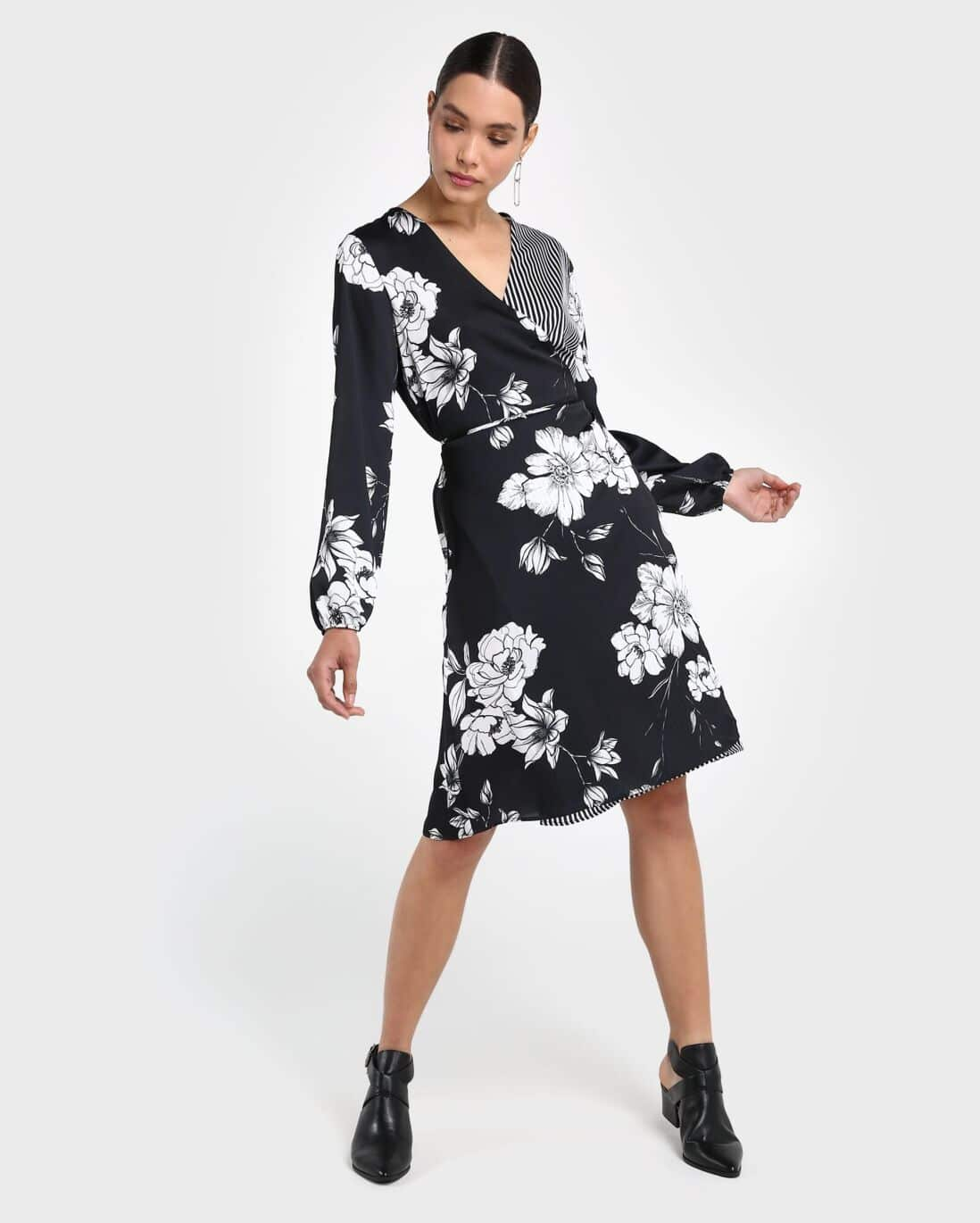 Vestido Envelope Mix Floral