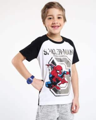 camiseta raglan metal spider man foto: still