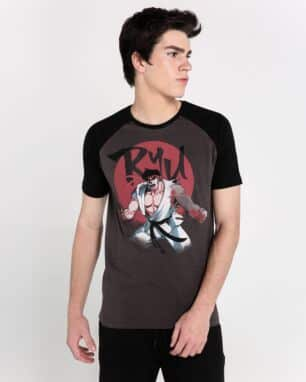 camiseta raglan street fighter foto: still